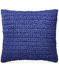 "Lauren Ralph Lauren Jensen Rag-Knit 18"" Square Decorative Pillow"