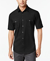 e0c253301f3 Black Mens Casual Button Down Shirts   Sports Shirts - Macy s
