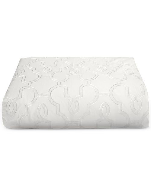 Hotel Collection CLOSEOUT! Inlay Cotton King Duvet Cover, Created for Macy's