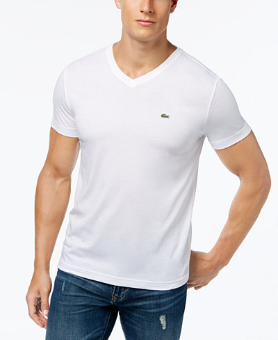Lacoste Men's V-Neck Pima Cotton T-Shirt - T-Shirts - Men - Macy's