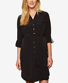 Motherhood Maternity Belted Shirtdress