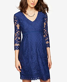 A Pea In The Pod Maternity Lace Babydoll Dress