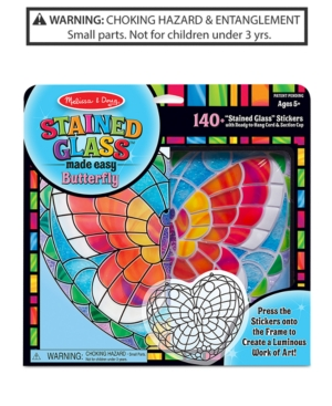 Melissa  Doug Stained Glass Made Easy Butterfly Set