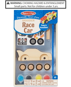 Melissa  Doug DecorateYourOwn Wooden Race Car