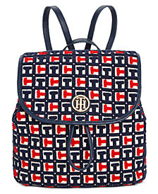 Tommy Hilfiger TH Terry Signature Flap Backpack