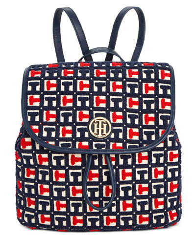 Tommy Hilfiger TH Terry Signature Small Flap Backpack