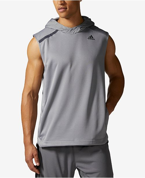 adidas Men's Essentials Hooded Sleeveless Basketball Shirt