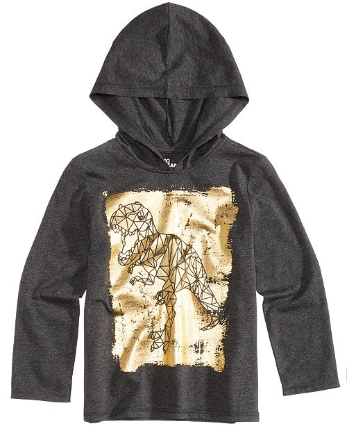 Epic Threads Dinosaur Graphic-Print Hooded Shirt, Little Boys, Created for Macy's