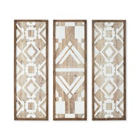 Overstock.com deals on Madison Park Gabbie Natural Wood Wall Decor Set of 3
