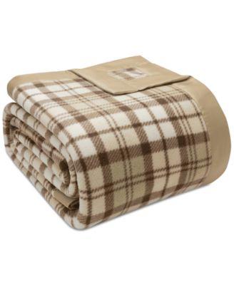 Plaid Micro-Fleece Twin Blanket