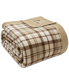 Plaid Micro-Fleece Full/Queen Blanket