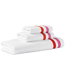 kate spade new york Candy Stripe Cotton Fingertip Towel