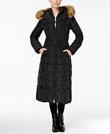 Jones New York Faux-Fur-Trim Down Maxi Coat