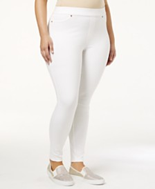 HUE® Plus Size Original Denim Leggings, Created for Macy's