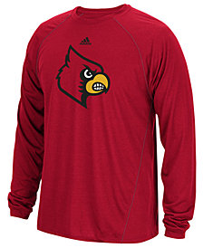 adidas Men's Louisville Cardinals Sideline Spine Long Sleeve T-Shirt
