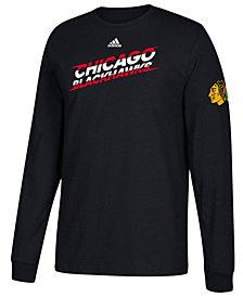 adidas Men's Chicago Blackhawks Line Shift Long Sleeve T-Shirt