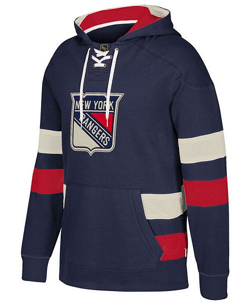 CCM Men s New York Rangers Pullover Jersey Hoodie - Sports Fan Shop ... a1550ccc060