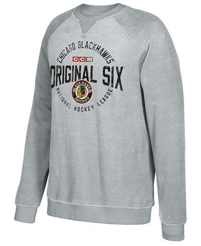 CCM Men's Chicago Blackhawks Original 6 Classic Crew Sweatshirt