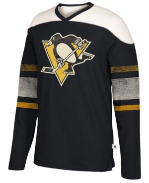 Ccm Men's Pittsburgh Penguins Applique Crew Long Sleeve T-Shirt