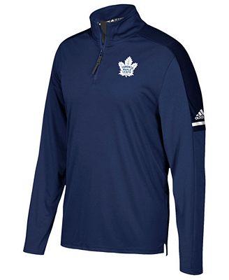 adidas Men's Toronto Maple Leafs Authentic Pro Quarter-Zip Pullover