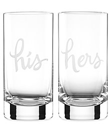 kate spade new york Set of 2 Two of a Kind Highball Glasses