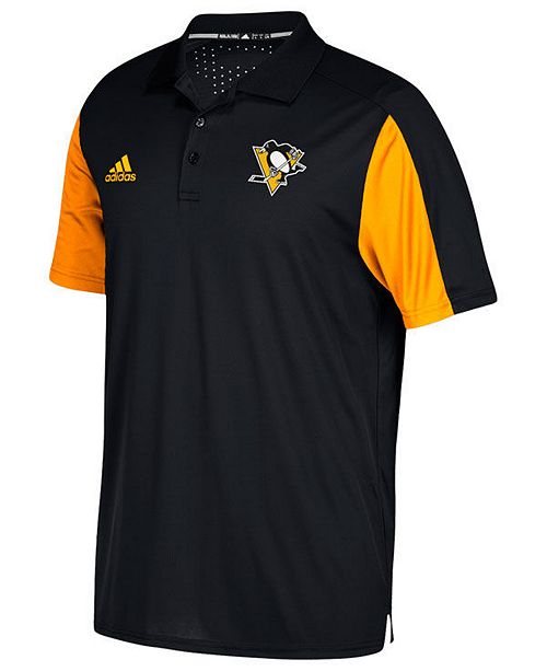 adidas Men's Pittsburgh Penguins Authentic Pro Game Day Polo