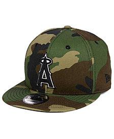 New Era Los Angeles Angels Woodland Black/White 9FIFTY Snapback Cap