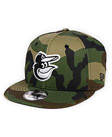 New Era Baltimore Orioles Woodland Black/White 9FIFTY Snapback Cap