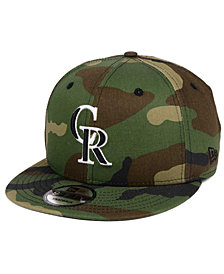 New Era Colorado Rockies Woodland Black/White 9FIFTY Snapback Cap
