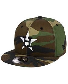 New Era Houston Astros Woodland Black/White 9FIFTY Snapback Cap