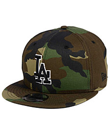 New Era Los Angeles Dodgers Woodland Black/White 9FIFTY Snapback Cap