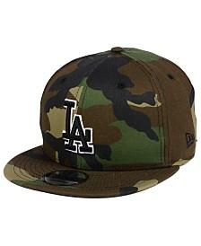 New Era Los Angeles Dodgers Woodland Black/White 9FIFTY Snapback Cap
