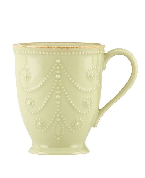 Lenox CLOSEOUT! Dinnerware, French Perle Pistachio Mug