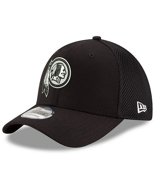 d014cbada ... New Era Washington Redskins Black/White Neo MB 39THIRTY Cap ...