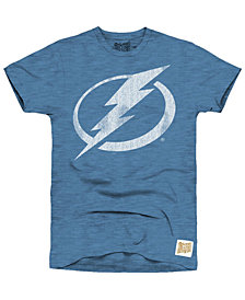 Retro Brand Men's Tampa Bay Lightning First Line Logo T-Shirt