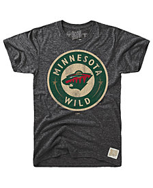 Retro Brand Men's Minnesota Wild Blue Line Logo T-Shirt