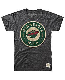 Retro Brand Men's Minnesota Wild Blue Line Logo T-Shirt