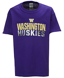 J America Washington Huskies Stack Sheen T-Shirt, Big Boys (8-20)