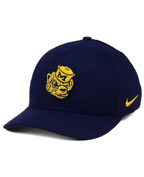fae76a6e840 Nike Michigan Wolverines Vault Swoosh Flex Cap - Sports Fan Shop By ...