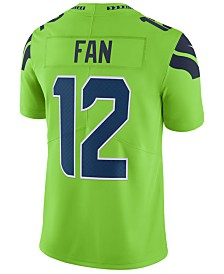 Nike Men's Fan #12 Seattle Seahawks Limited Color Rush Jersey