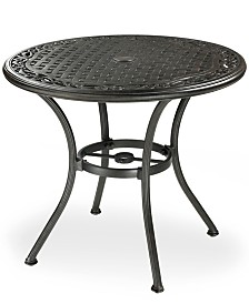 "Cast Aluminum 32"" Round Outdoor Cafe Table, Created for Macy's"