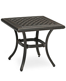 "CLOSEOUT! Cast Aluminum 20"" Square Outdoor End Table, Created for Macy's"