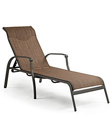CLOSEOUT! Oasis Aluminum Outdoor Chaise Lounge, Created for Macy's