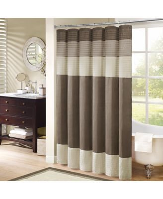 "Amherst Colorblocked 108"" x 72"" Faux-Silk Shower Curtain"