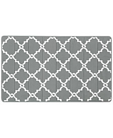 "Madison Park Essentials Merritt Reversible 24"" x 40"" Fretwork-Print Memory Foam Fleece Bath Rug"