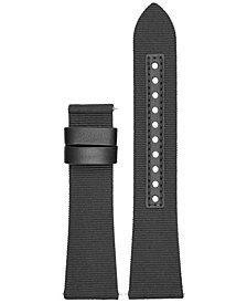 Emporio Armani Connected Black Nylon Smart Watch Strap
