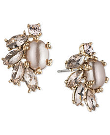 Marchesa Crystal & Imitation Pearl Stud Earrings