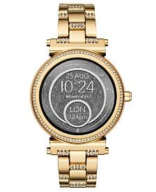 Michael Kors Access Women's Sofie Gold-Tone Stainless Steel Bracelet Touchscreen Smart Watch 42mm