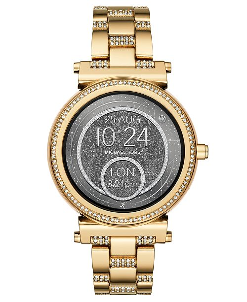 b5d8fb89afc0 ... Michael Kors Access Women s Sofie Gold-Tone Stainless Steel Bracelet  Touchscreen Smart Watch ...