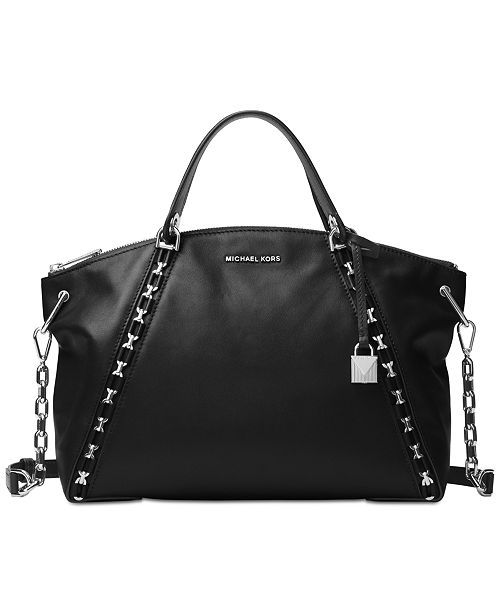 Michael Kors Sadie Large Top-Zip Satchel - Handbags   Accessories ... c701d85108bc